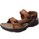 cheap Women's Athletic Shoes-Unisex Shoes Nappa Leather Spring / Summer Comfort Sandals Water Shoes Light Brown