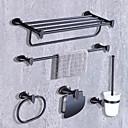 baratos Conjunto de acessórios de casa de banho-Jogo de Acessórios para Banheiro Moderno / Contemporâneo Metal 5pçs - Banho do hotel Suportes de Papel Higiénico / barra da torre / anel