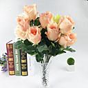 baratos Flor artificiali-Flores artificiais 1 Ramo Europeu Rosas Flor de Mesa