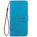 זול מגנים לטלפון & מגני מסך-מגן עבור Xiaomi ארנק / מחזיק כרטיסים / עם מעמד כיסוי מלא אחיד קשיח עור PU ל Xiaomi Redmi 4X
