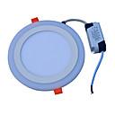 baratos Luzes de Teto de LED-JIAWEN 18W 90 LEDs Decorativa Luminária de Painel Branco Frio Azul AC85-265