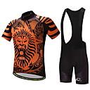 baratos Camisas & Shorts/Calças de Ciclismo-Homens Camisa com Bermuda Bretelle Moto Conjuntos de Roupas, Secagem Rápida Leão