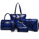 cheap Bag Sets-Women's Bags PU Bag Set Zipper / Flower Blue / Red / Beige