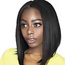 olcso Emberi hajból készült parókák-Remy haj Tüll homlokrész Csipke eleje Paróka Brazil haj Egyenes yaki Paróka Bob frizura 130% 150% Haj denzitás baba hajjal Természetes hajszálvonal Afro-amerikai paróka 100% kézi csomózású Női Rövid