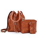 رخيصةأون مجموعات حقائب-للمرأة أكياس PU مجموعات حقيبة 3 قطع محفظة مجموعة أحمر / البيج / بني