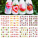 cheap Nail Glitter-12 pcs Nail DIY Tools Full Nail Stickers Water Transfer Decals nail art Manicure Pedicure Fashion Daily