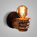 baratos Lâmpadas LED Redondas-Rústico / Campestre / Clássica / Vintage Luminárias de parede Resina Luz de parede 110-120V / 220-240V 60W