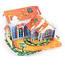 cheap Wooden Puzzles-3D Puzzle Jigsaw Puzzle Paper Model House DIY High Quality Paper Classic Kid's Unisex Boys' Girls' Toy Gift