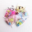 preiswerte Gastgeschenk Boxen & Verpackungen-Kreisförmig Quadratisch Quader Organza Geschenke Halter mit Bänder Print Geschenkboxen Geschenktaschen