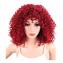 cheap Wedding Umbrellas-Synthetic Wig Curly / Afro Synthetic Hair African American Wig Red Wig Women's Short Capless