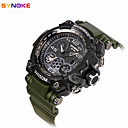 cheap Rings-Men's Sport Watch Military Watch Smartwatch Quartz Digital 30 m Water Resistant / Water Proof Alarm Calendar / date / day Silicone Band Analog-Digital Charm Vintage Casual Multi-Colored - Black Green