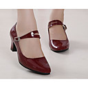 cheap Modern Shoes-Women's Modern Shoes Patent Leather / PU Heel Dance Shoes Black / Dark Red / Red / Practice