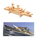cheap Models & Model Kits-3D Puzzle / Jigsaw Puzzle / Model Building Kit Warship / Aircraft Carrier DIY Wooden Aircraft Carrier Kid's Unisex Gift