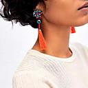 cheap Earrings-Women's Tassel Drop Earrings - Vintage, Bohemian, Fashion Red / Green / Light Blue For Party / Casual