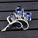 baratos Broches-Mulheres Diamante sintético Broches - Flor, Animal Broche Azul Escuro Para Casamento / Festa / Ocasião Especial