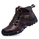 זול מגפיים לגברים-בגדי ריקוד גברים מגפי שלג עור סתיו / חורף נוחות מגפיים מגפונים\מגף קרסול שחור / חום כהה / חום בהיר