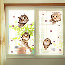 abordables Stickers de Ventana-Floral Navidad Adhesivo para Ventana, PVC/Vinilo Material decoración de la ventana Salón