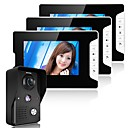 voordelige Video-intercomsystemen-Bergone 7 inch video deurtelefoon doorbel intercom systeem kit 1-camera 2-monitor nachtzicht
