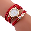 cheap Hair Accessories-Women's Bracelet Watch Quartz Water Resistant / Water Proof Creative PU Band Analog Casual Fashion Elegant White / Blue / Red - Red Blue Pink / Stainless Steel