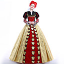 cheap Movie & TV Theme Costumes-Queen of Hearts Cosplay Costume Party Costume Masquerade Women's Movie Cosplay Dress Petticoat Wig Christmas Halloween Carnival Ssatin