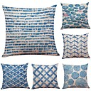 cheap Pillow Covers-6 pcs Linen Cotton/Linen Pillow Case Pillow Cover, Textured Beach Style Bolster Traditional/Classic