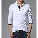 baratos Acessórios de Limpeza de Cozinha-Homens Polo - Final de semana Activo Sólido Algodão Colarinho de Camisa