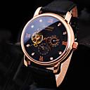 baratos Relógios Mecânicos-Homens Relógio de Pulso / relógio mecânico Impermeável Couro Banda Luxo / Brilhante Preta / Marrom / Automático - da corda automáticamente