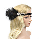 cheap Rings-Rhinestone / Feather / Polyester Headbands / Flowers with 1 Wedding / Party / Evening Headpiece
