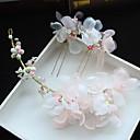 olcso Nyakláncok-Tüll / Sifon / Gyöngyutánzat Virágok / Hair Clip / Hair Pin val vel 1 Esküvő / Különleges alkalom / Születésnap Sisak