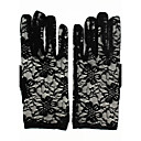 cheap Party Gloves-Lace Wrist Length Glove Bridal Gloves / Party / Evening Gloves With Embroidery