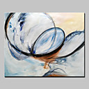 baratos Pinturas Abstratas-Pintura a Óleo Pintados à mão - Abstrato Abstracto Modern Sem armação interna / Lona Laminada