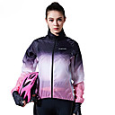 cheap Cycling Jackets-SANTIC Women's Cycling Jacket Bike Top Windproof Geometric Violet Bike Wear