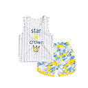 cheap Baby Girls' One-Piece-Baby Children's Casual/Daily Stripe Clothing Set, Cotton Summer Green Gray Yellow