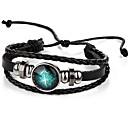 cheap Men's Bracelets-Men's / Women's Leather Bracelet - Leather Vintage Bracelet Black For Gift