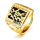 cheap Men's Rings-Men's Band Ring - Gold Plated Statement, Luxury, Classic Adjustable Gold For Wedding / Party / Gift
