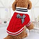abordables Ropa para Perro-Perro Suéteres Ropa para Perro Lazo Rojo Azul Tejido Disfraz Para Primavera & Otoño Invierno Hombre Mujer Casual / Diario