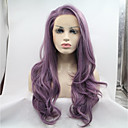 cheap Synthetic Lace Wigs-Synthetic Lace Front Wig Natural Wave Side Part Synthetic Hair Heat Resistant / Natural Hairline Purple Wig Women's Long Lace Front