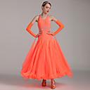 abordables Ropa para Baile Latino-Baile de Salón Vestidos Mujer Rendimiento Licra Cristales / Rhinestones Cintura Media Vestido
