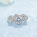 preiswerte Modische Halsketten-Damen Kubikzirkonia Bandring - Platiert, Diamantimitate Modisch, Elegant 6 / 7 / 8 Silber Für Hochzeit Verlobung Zeremonie