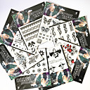 cheap Temporary Tattoos-Pattern / Lower Back / Waterproof Hand / Arm / Wrist Temporary Tattoos 8 pcs Totem Series / Animal Series / Flower Series Body Arts