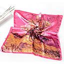 お買い得  ファッションスカーフ-女性用 プリント シルク 四角形