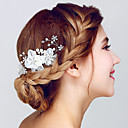 cheap Jewelry Sets-Crystal / Organza Hair Combs / Headwear with Floral 1pc Wedding / Special Occasion / Anniversary Headpiece