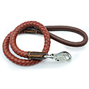 cheap Dog Collars, Harnesses & Leashes-Leash Portable Safety Solid PU Leather