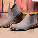 cheap Men's Boots-Men's Bootie Suede Fall / Winter Boots Booties / Ankle Boots Black / Gray / Party & Evening