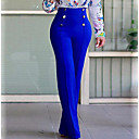 cheap Necklaces-Women's Street chic Plus Size Bootcut / Chinos Pants - Solid Colored Pure Color High Rise / Work