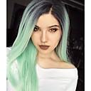 ieftine Peruci Fără Capac Sintetice-Lănțișoare frontale din sintetice Drept Păr Sintetic Păr Ombre Verde Perucă Pentru femei Lung Față din Dantelă Verde mentă Uniwigs