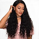 cheap Human Hair Wigs-Remy Human Hair Full Lace Wig Brazilian Hair Wavy Water Wave Wig 180% Density with Baby Hair Natural Hairline African American Wig 100% Hand Tied Women's Medium Length Long Human Hair Lace Wig