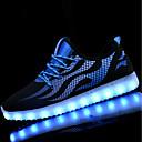 abordables Zapatillas de Deportiva de Hombre-Hombre Iluminar los zapatos PU Primavera / Otoño Zapatillas de Atletismo Paseo Negro / blanco