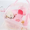 baratos Acessórios para Pequenos Animais-Roedores Hamster Silicone Gaiolas Amarelo Verde Azul Rosa claro