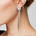 preiswerte Modische Halsketten-Damen Quaste / Lang Tropfen-Ohrringe / Ohrring - Diamantimitate Galaxis Luxus, Quaste, Modisch Silber Für Alltag / Normal
